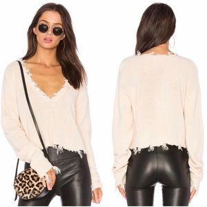 Lovers + Friends Prospect Ivory Sweater Sz Xs